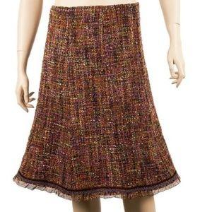 Cynthia Cynthia Steffe colorful tweed wool skirt